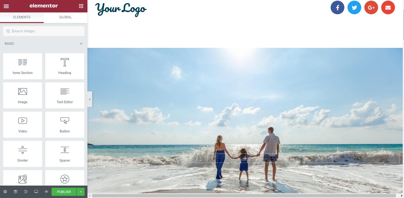 create landing page using Elementor in WordPress