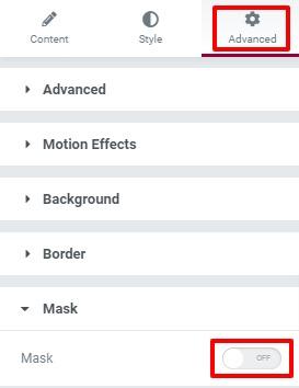 Add Image Masking in Elementor