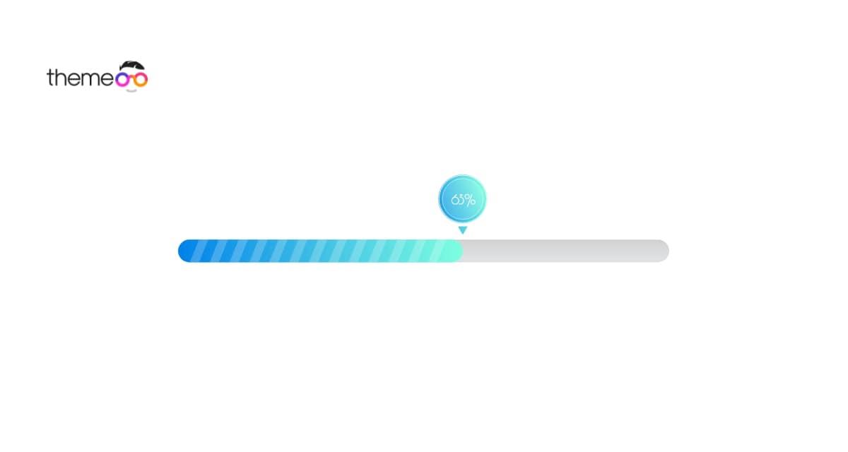 gradient progress bar using Elementor