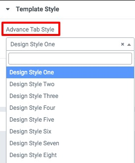 advance tab with Elementor