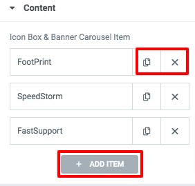 icon box carousel with Elementor