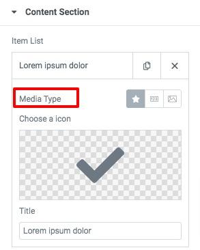 list widget with Elementor